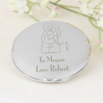 Personalised 'Tatty Teddy' Me to You Flower Compact Mirror
