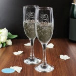 Personalised 'Tatty Teddy' Me To You Wedding Pair of Flutes